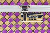Metallic chest box for jewelry — Stock Photo