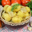Boiled potatoes and vegetables — Stock Photo