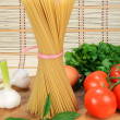 Pasta and vegetables - Stock Photo