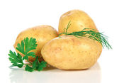 Fresche patate crude — Foto Stock
