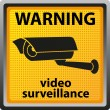 Sign warning of surveillance camera — Vektorgrafik