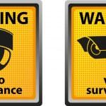 Sign warning of surveillance camera — Stock Vector