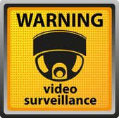 Sign warning of surveillance camera — Vettoriale Stock