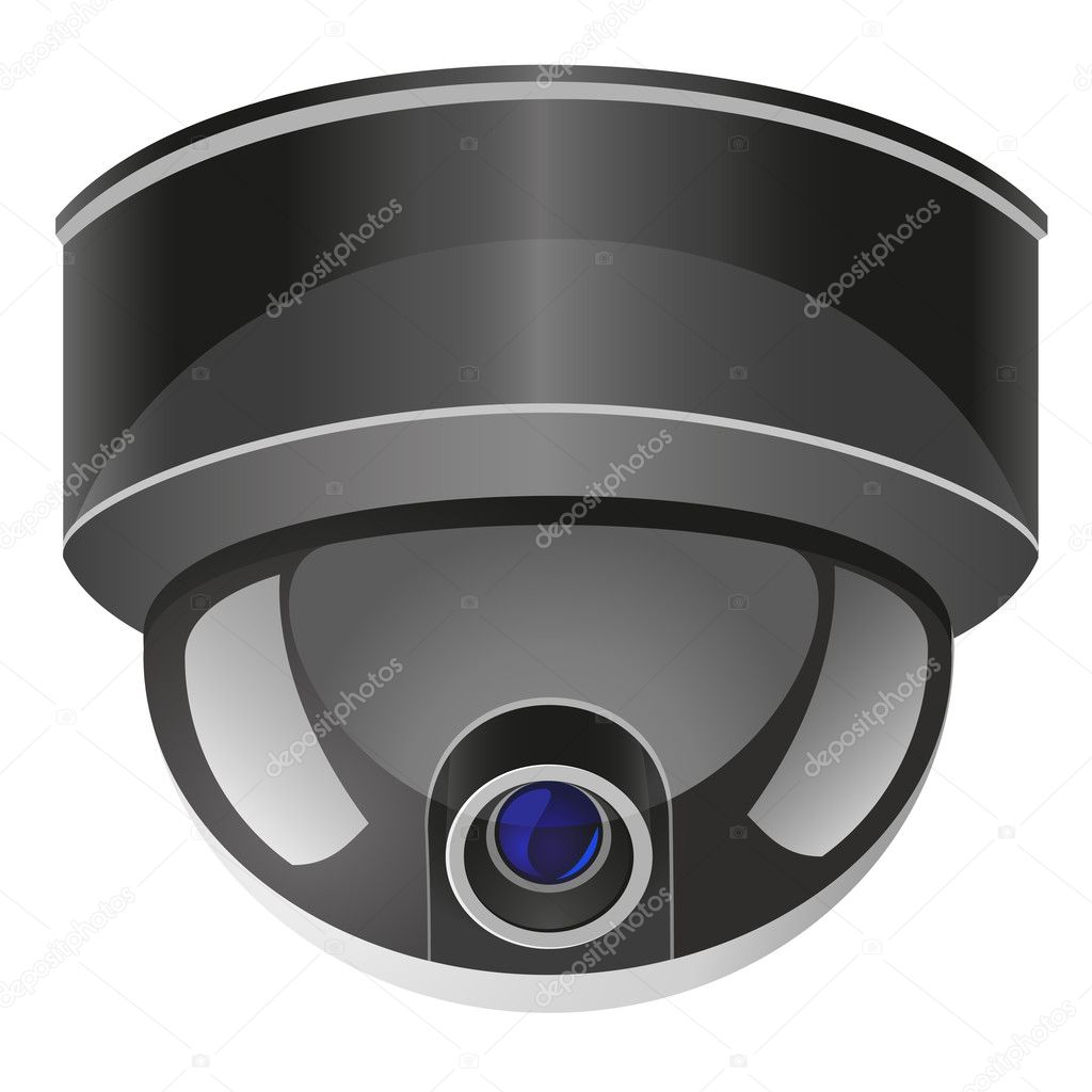 Video surveillance camera vector illustration isolated on white background — Stock Vector #11267363