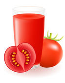 Tomato juice vector illustration — Stock Vector