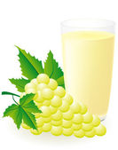 White grape juice vector illustration — Stock Vector