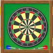 Darts vector illustration — Stock Vector