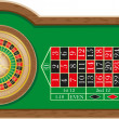 Roulette casino vector illustration - Stockvektor