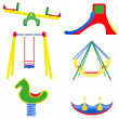 Stock Vector: Icons children teeter vector illustration