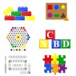 Icons educational toys for children — Stock Vector