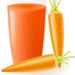 Carrot juice illustration — Stock Photo