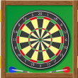 Darts illustration — Stock Photo