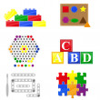 Stock Photo: Icons educational toys for children