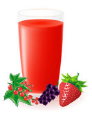 Berry juice illustration — Stock Photo