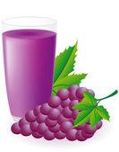 Blue grape juice illustration — Stock Photo