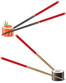 Sushi and chopsticks illustration — Stock Photo