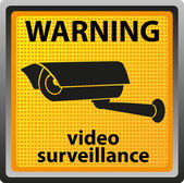 Sign warning of surveillance camera — Stock Photo