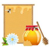 Naturlig honung illustration — Stockfoto