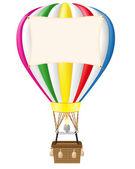 Hot air balloon and blank banner illustration — Stock Photo