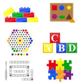 Icons educational toys for children — Stock Photo