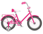 Kids bicycle for a girl illustration — Stock Photo