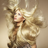 Photo of beautiful woman with magnificent hair — Photo