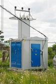 Rural transformer substation — Stock Photo