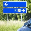 blue road sign — Stock Photo #10797858