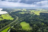 Panoramik havadan görüntüleme bavyera — Stok fotoğraf