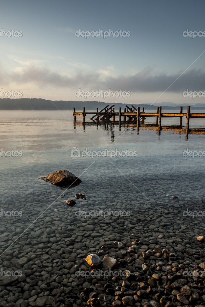 An old jetty at Starnberg Lake in Germany — Stock Photo #12233594
