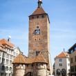 Clock tower Nuremberg Bavaria Germany — Stock Photo