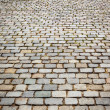 Cobble stone background - Stock Photo