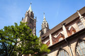 St. Lorenz Church Nuremberg Bavaria Germany — Stock Photo