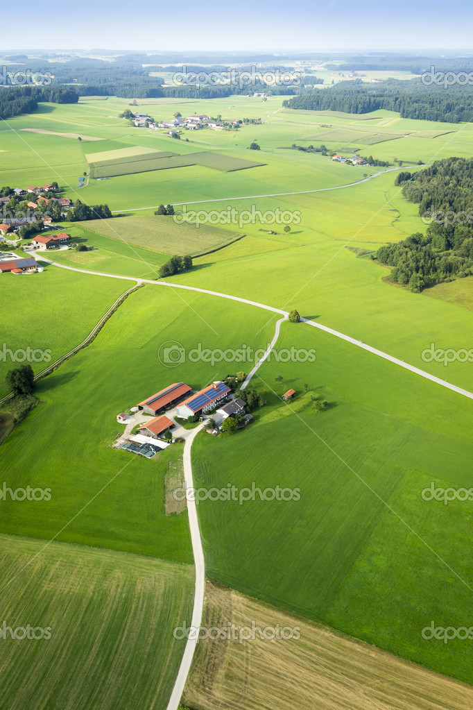 An image of a flight over the bavarian landscape — Stock Photo #12377477