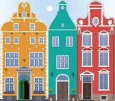 Three houses — Stock Vector