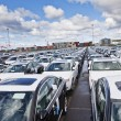 Large group of cars — Stock Photo