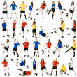 Female soccer players — Stock Photo