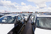 Large group of cars — Stockfoto