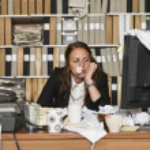 Sour Businesswoman — Stock Photo