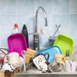 Messy Kitchen — Stock Photo