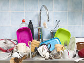 Messy Kitchen — Stockfoto