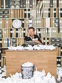 Ciddi iş kadını — Stok fotoğraf