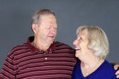 Happy senior couple laughing — Stock Photo