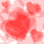Seamless transparent hearts pattern — Stock Vector