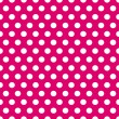 Seamless pink and white polka dots pattern — Stock Vector