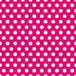 Seamless pink and white polka dots pattern — Image vectorielle