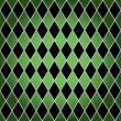 Stock Vector: Seamless harlequin pattern-green and black