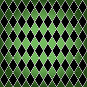 Seamless harlequin pattern-green and black — Stock Vector