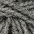 Macro shot of ball of grey wool or yarn — Stock Photo