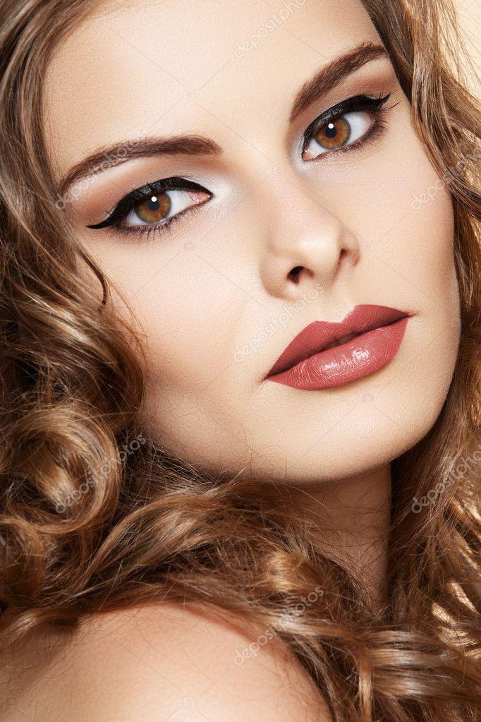 beauty girl face make - photo #49